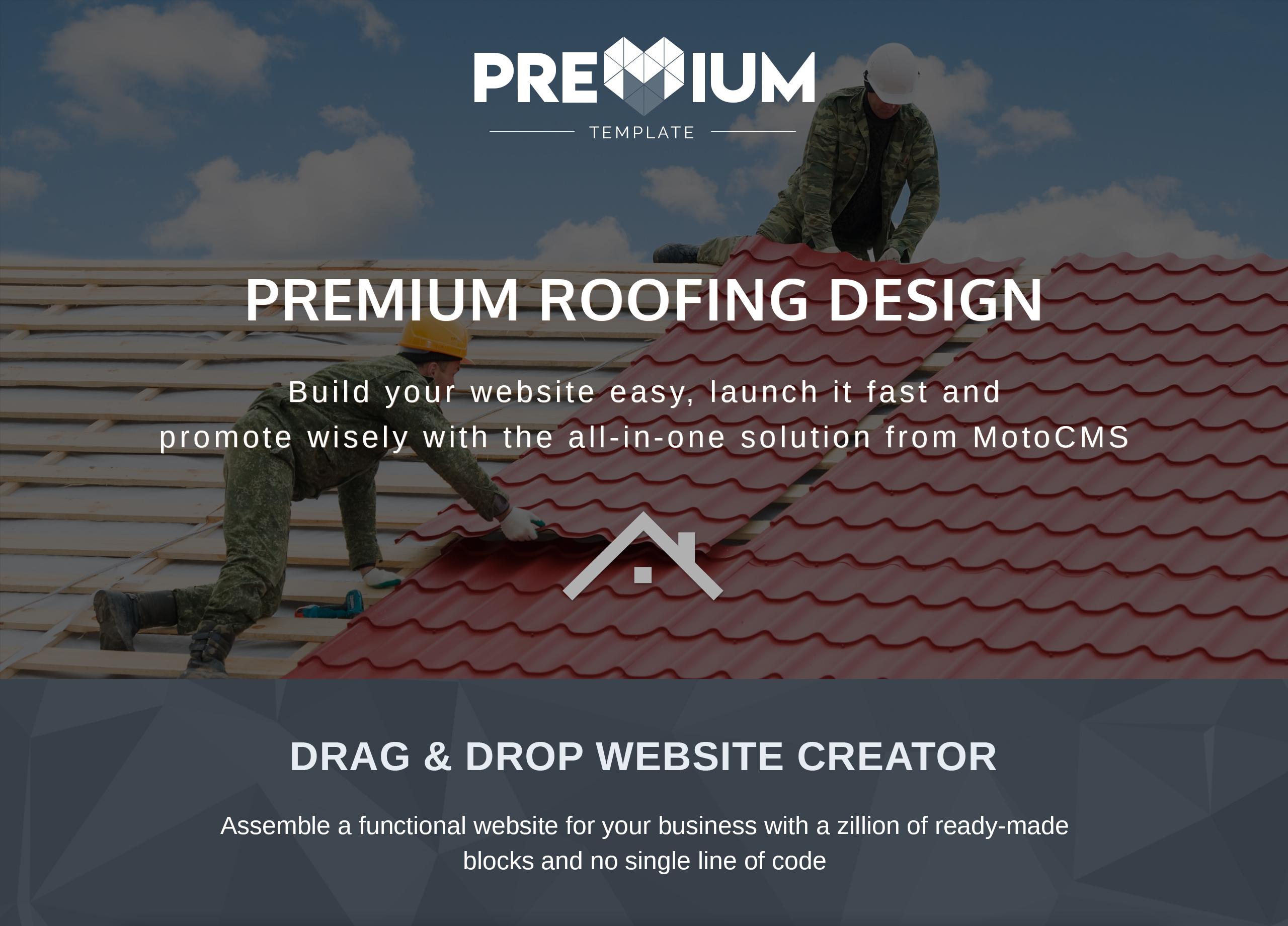 Rooferco Premium Moto CMS 3 Template