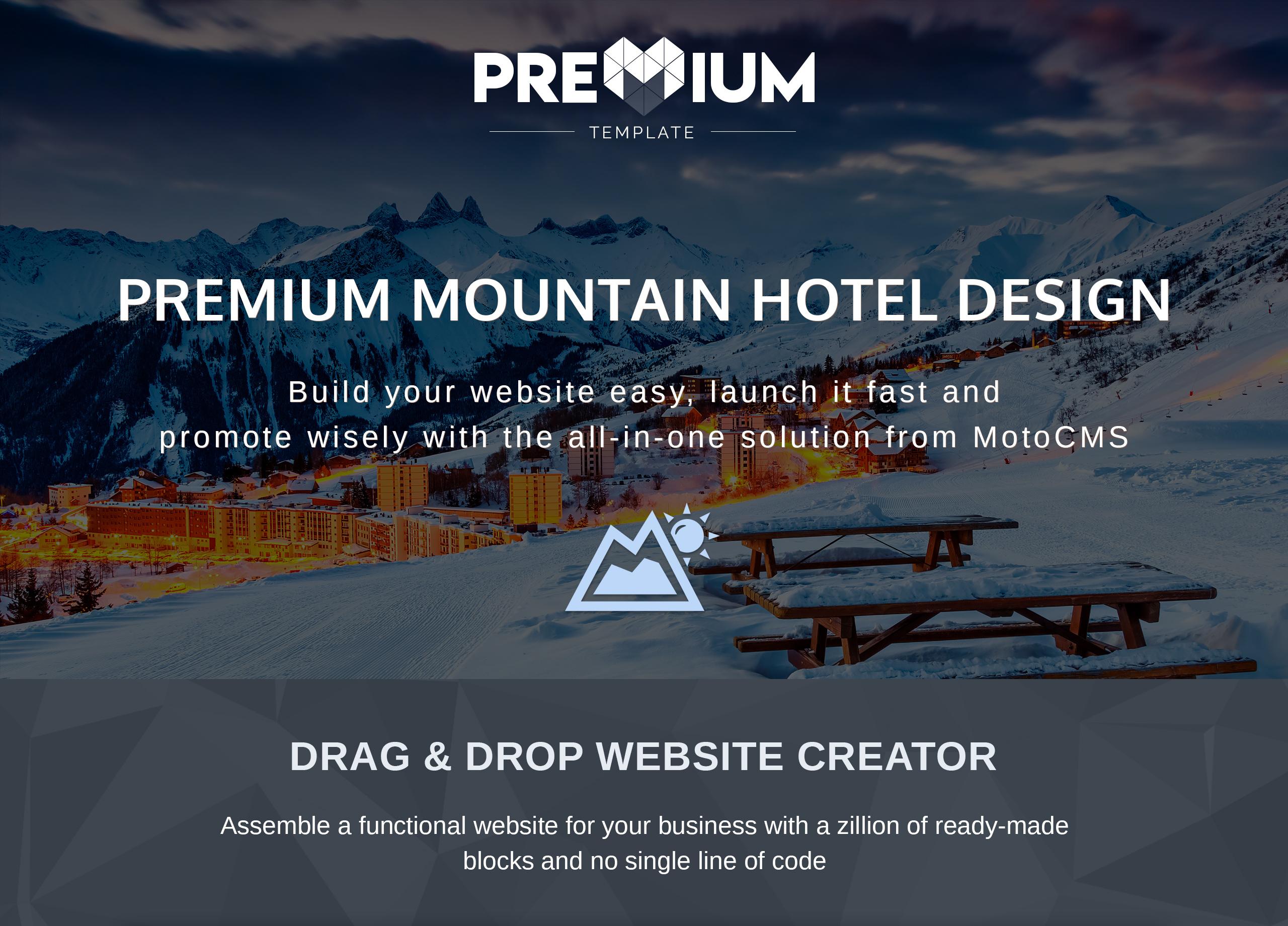 Mountainking - Mountain Hotel Premium Moto CMS 3 Template