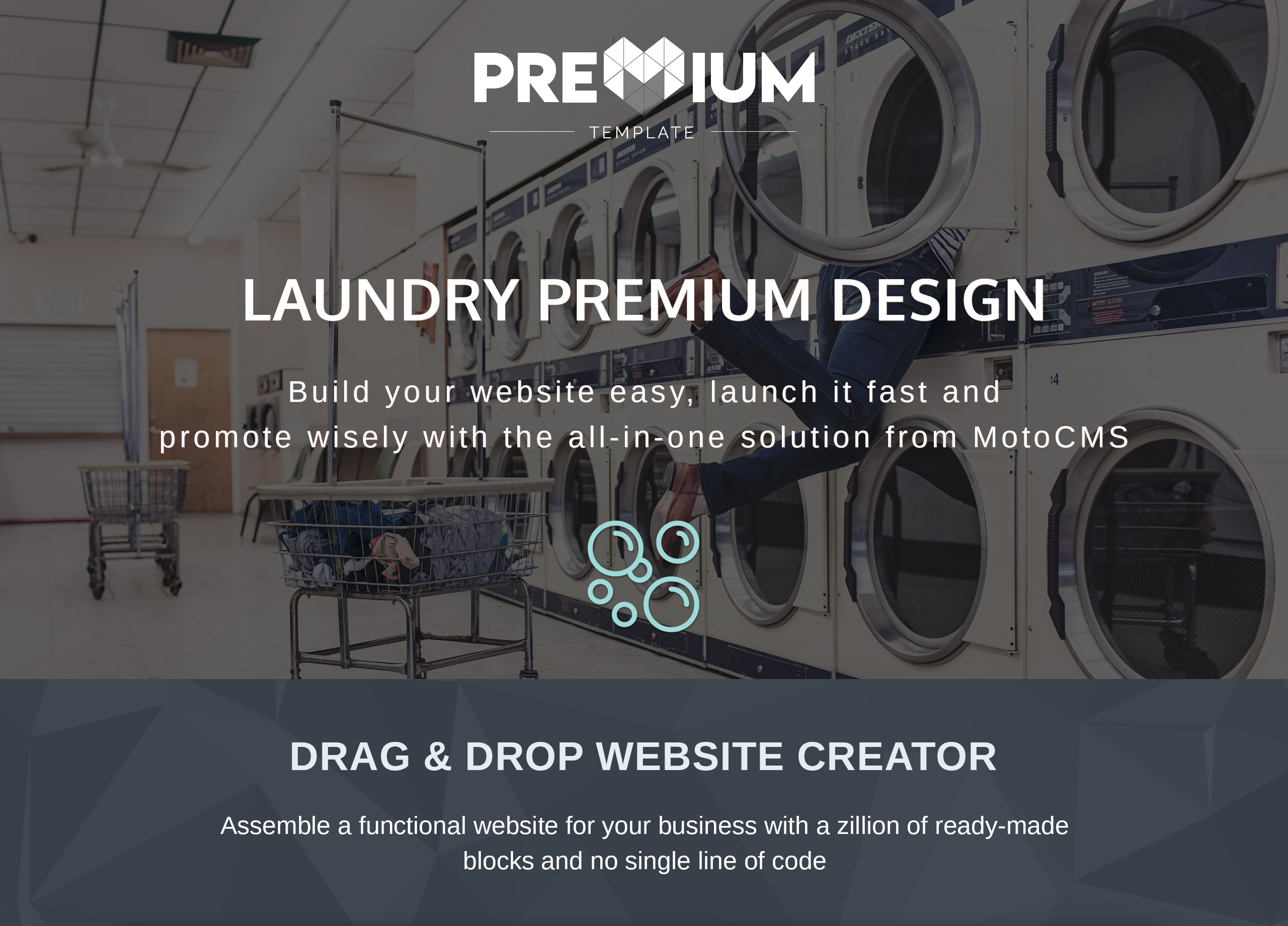 Laundromats, Laundry and Dry Cleaning Premium Moto CMS 3 Template