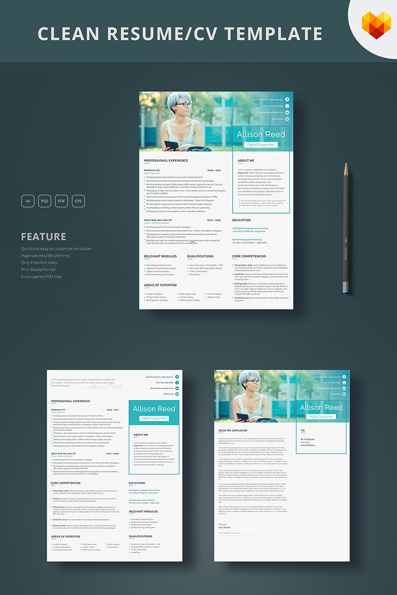 Allison Reed Copywriter Resume Template 65251