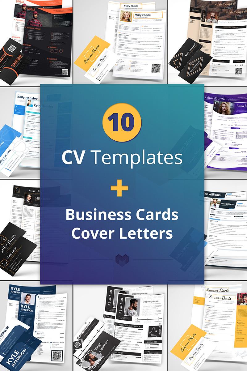 """10 Best Professional CV and Resume Templates"" Bundle #65240"