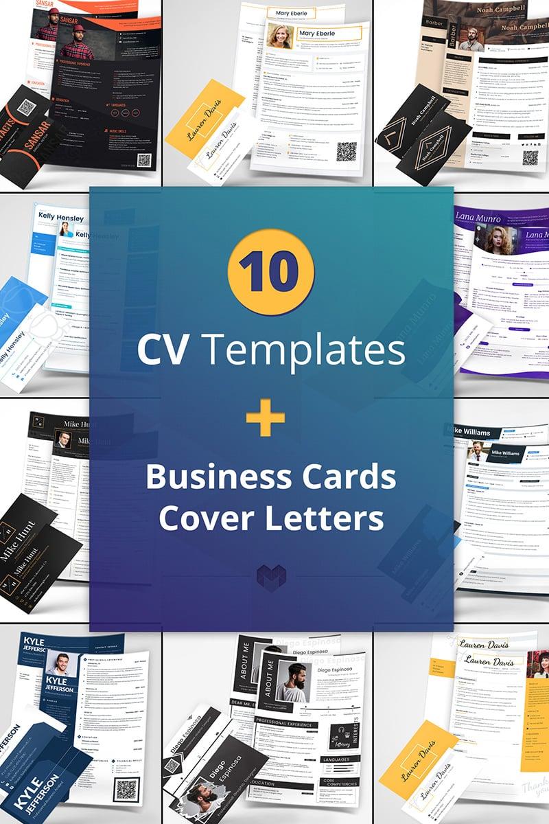 """10 Best Professional CV and Resume Templates"" - Bundle №65240"
