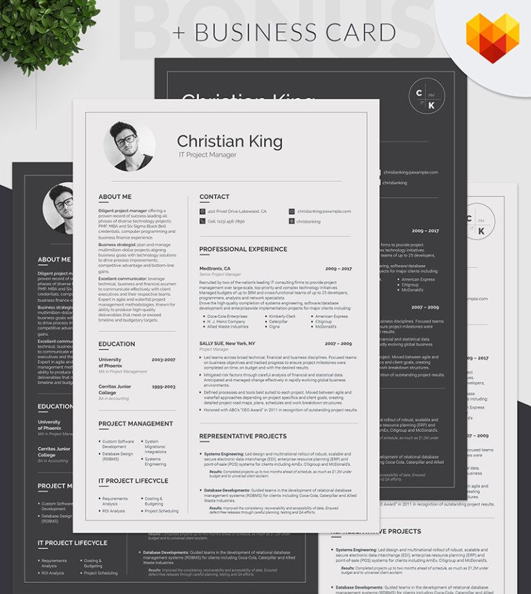 christian king project manager resume template 65247