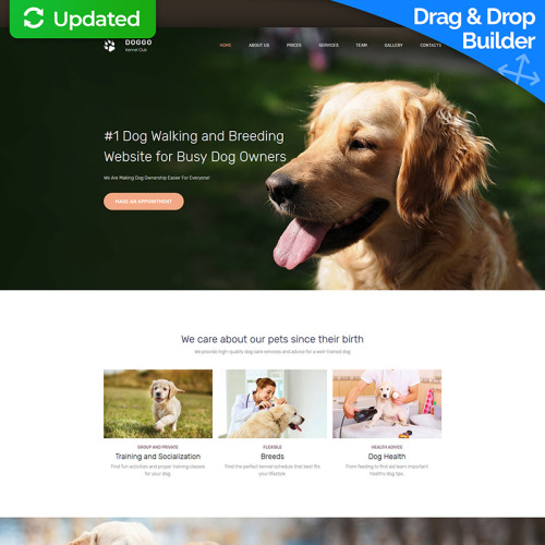 DOGGO - Kennel Club Premium - MotoCMS 3 Template based on Bootstrap