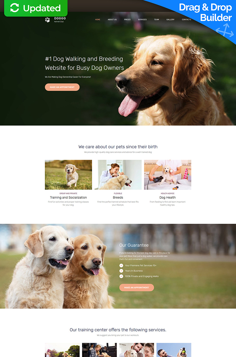 DOGGO - Kennel Club Premium Templates Moto CMS 3 №65288
