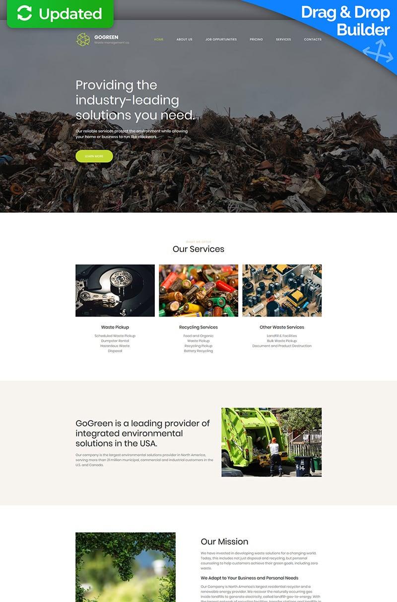 Gogreen - Garbage Services Premium Moto CMS 3 Template