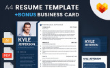 Kyle Jefferson - Businessman, Manager and Consultant Resume Template