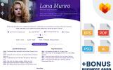 Lana Munro - Şarkıcı ve Aktör için Duyarlı Teması