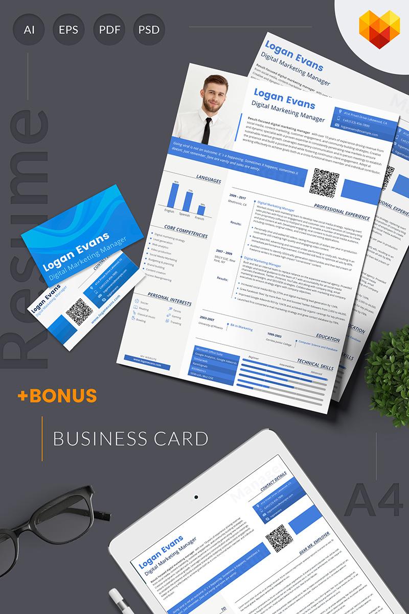 Lebenslauf-Vorlage #65241 für Marketing-Agentur