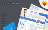 Logan Evans - Digital Marketing Resume Template