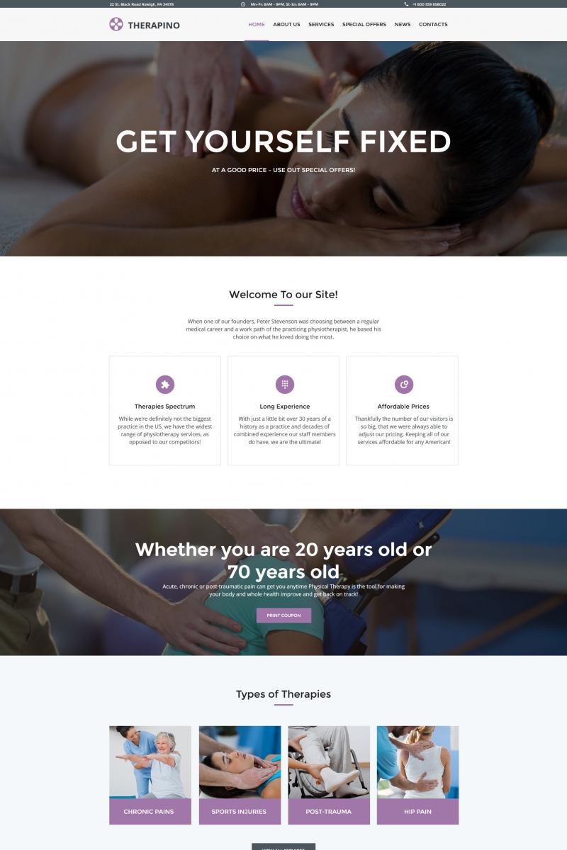 Modèle Moto CMS HTML pour salon de massage #65274