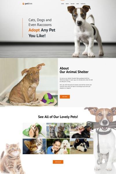 Modèle Moto CMS HTML  pour site de refuge pour animaux