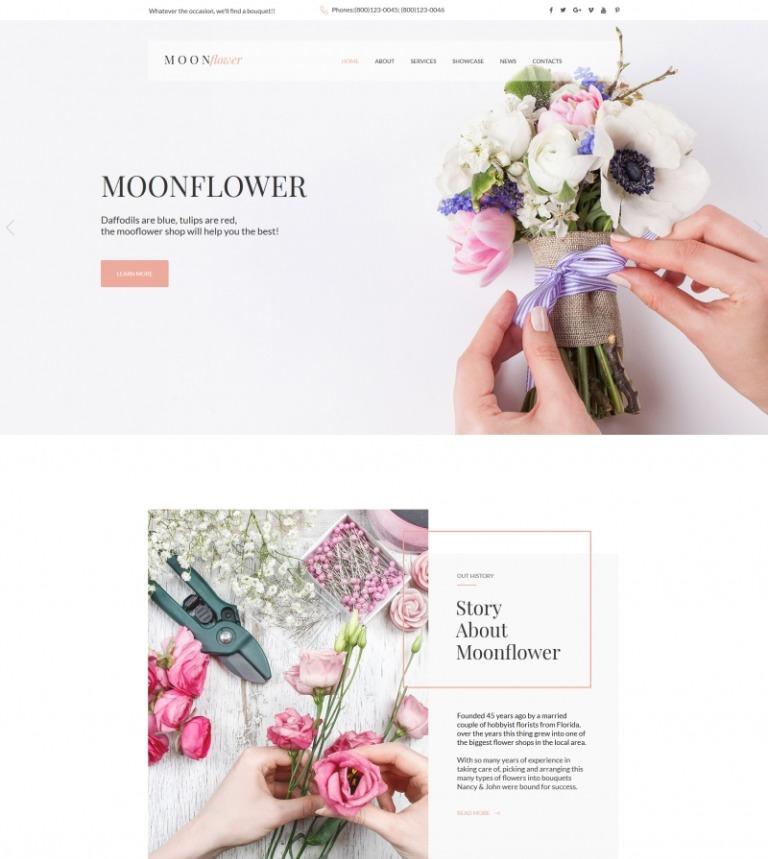 Moto CMS HTML Vorlage #65264 für Blumen