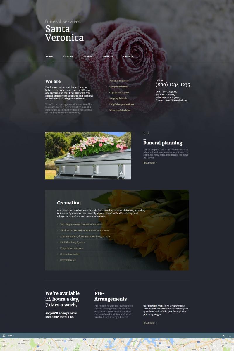 Moto CMS HTML Vorlage für Trauergottesdienst #65265