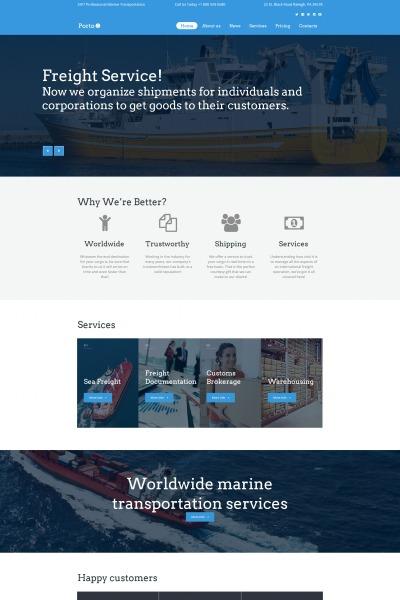 Maritime MotoCMS HTML шаблон