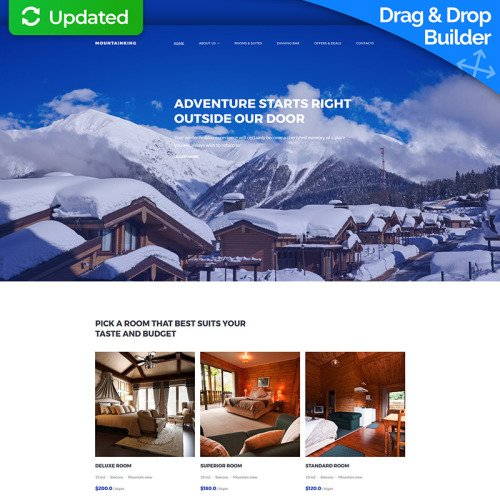 Mountainking - Mountain Hotel Premium - MotoCMS 3 Template based on Bootstrap