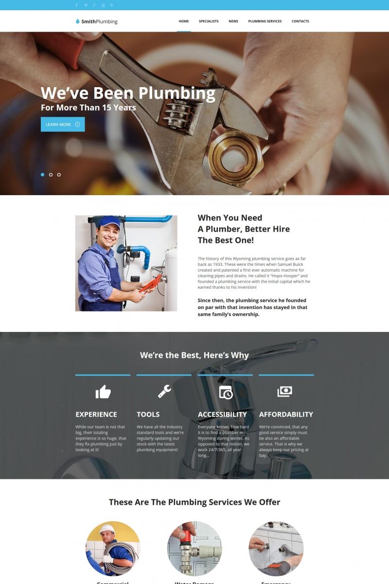 Plantilla Moto CMS HTML #65276 para Sitio de Servicios de Fontanería