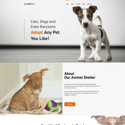 Plantilla Moto CMS HTML #65277 para Sitio de  para Sitio de Refugios de animales