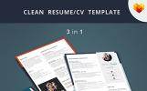 Premium Olay Planlayıcısı  Resume Şablonu
