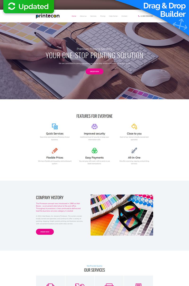 Printecon - Digital Printing Company Premium Moto CMS 3 Template