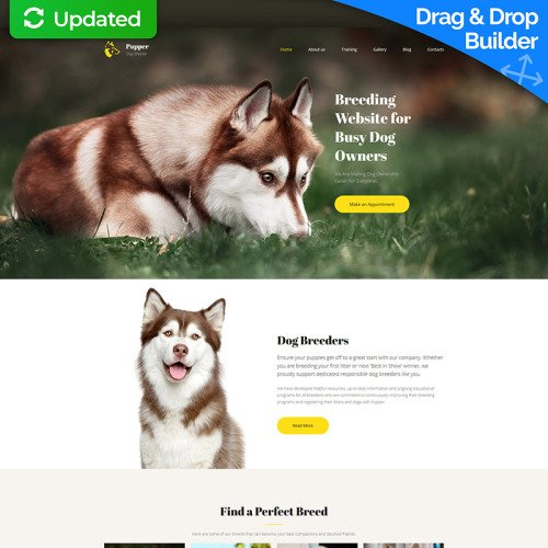 Pupper - Dogs Breeder Premium - MotoCMS 3 Template based on Bootstrap