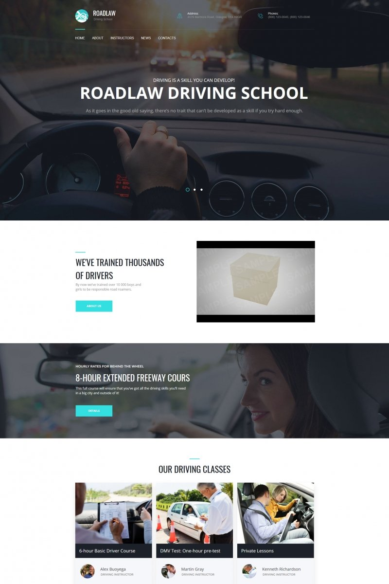 RoadLaw - Driving School Moto CMS HTML Template