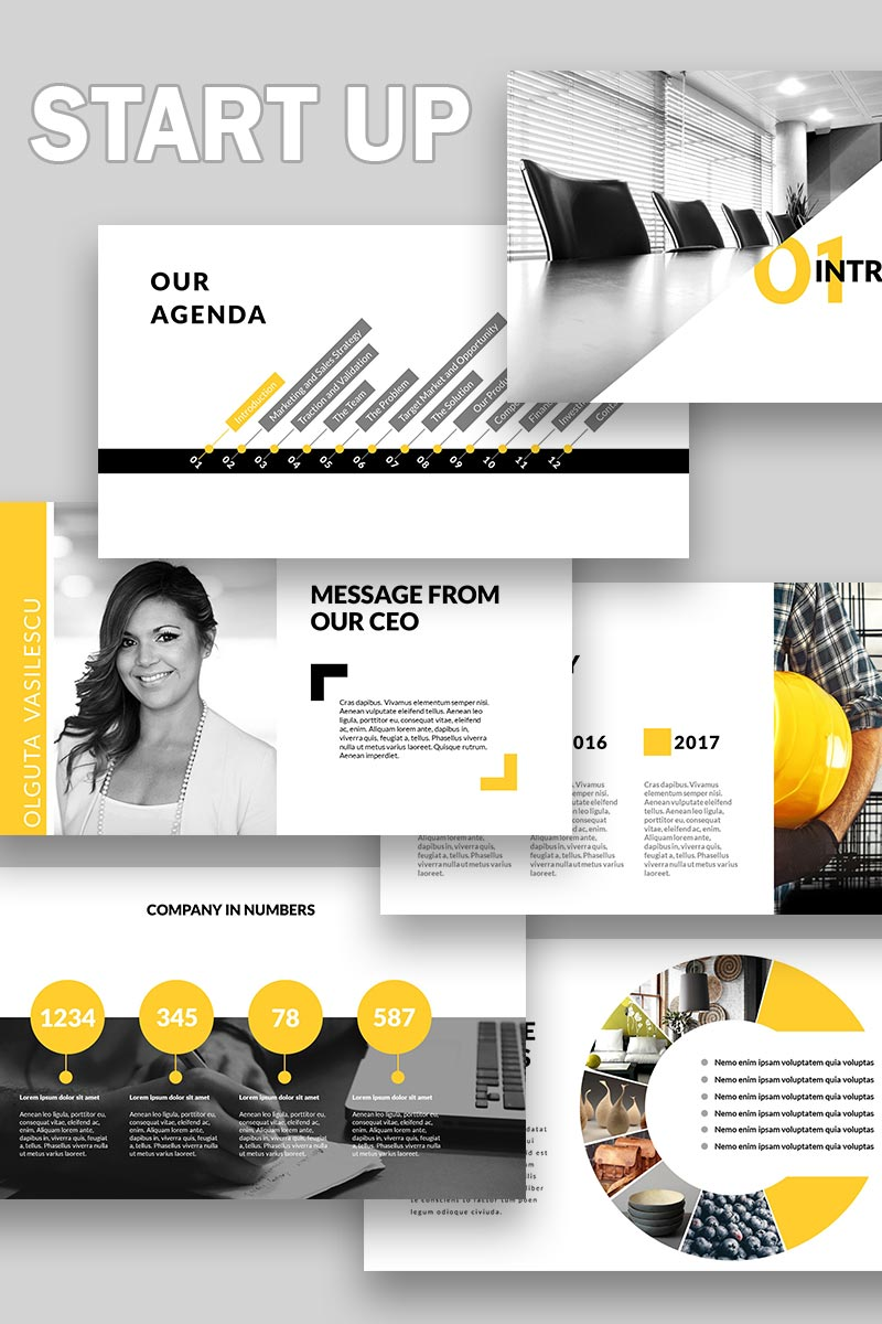 Start Up Template PowerPoint №65223