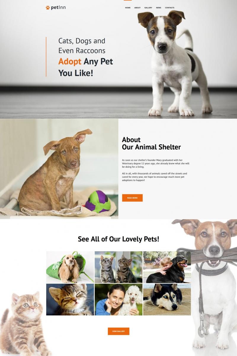 Szablon Moto CMS HTML #65277 na temat: schronisko dla zwierząt