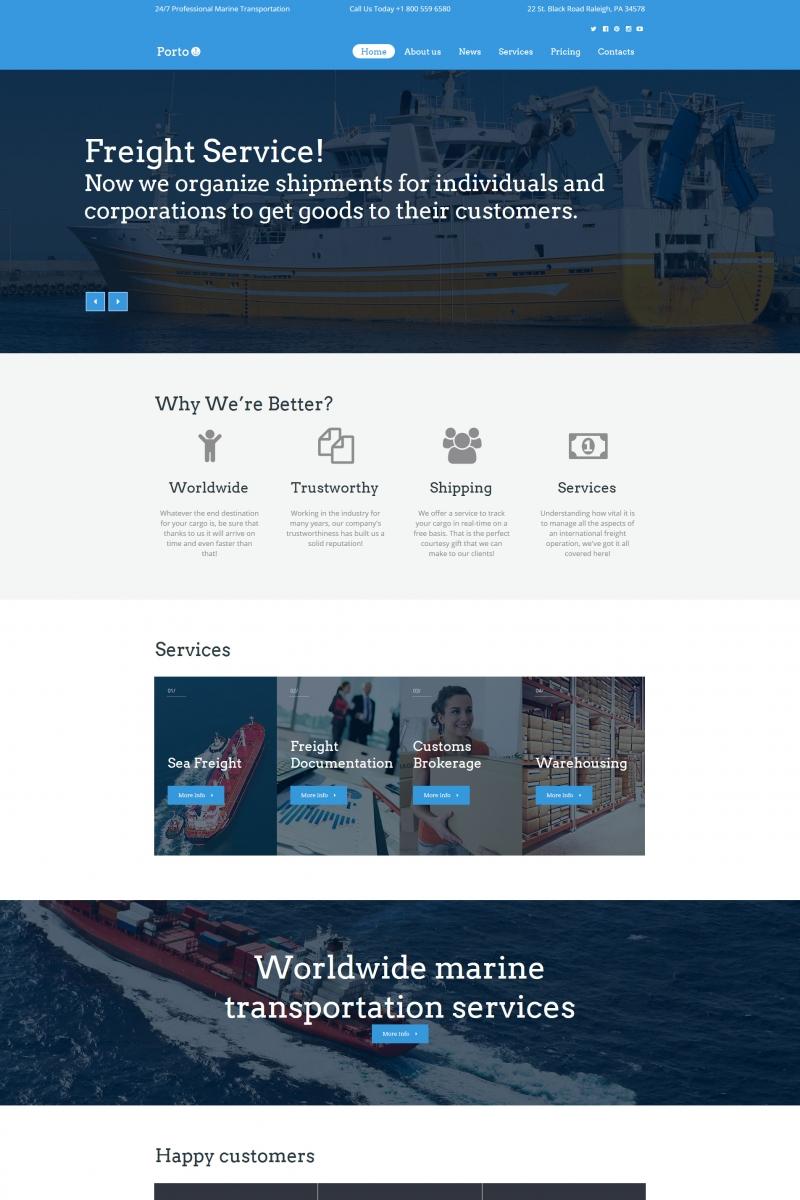 Szablon Moto CMS HTML Porto - Seafaring, Transportation & Logistics #65263