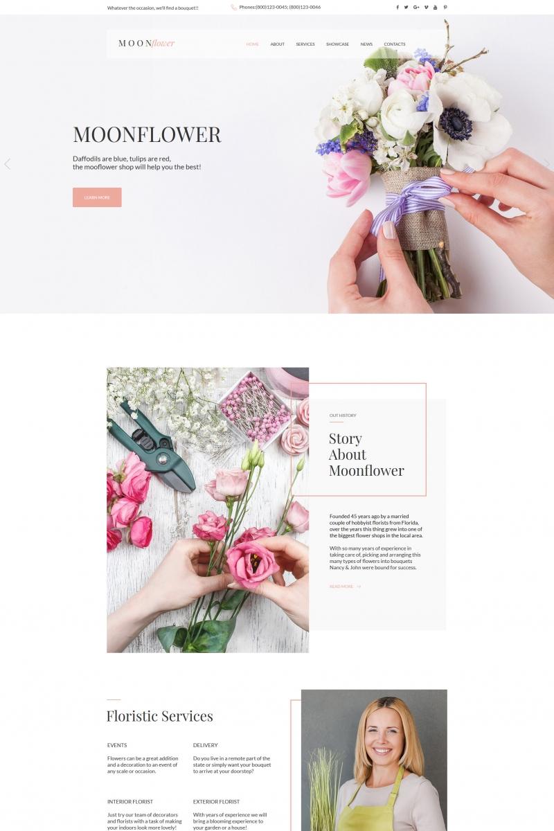 Template Moto CMS HTML para Sites de Flores №65264