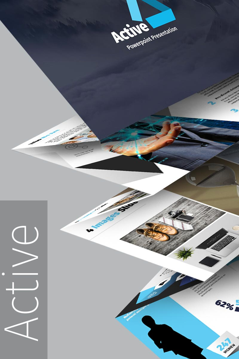 """Template PowerPoint #65224 """"Active"""""""