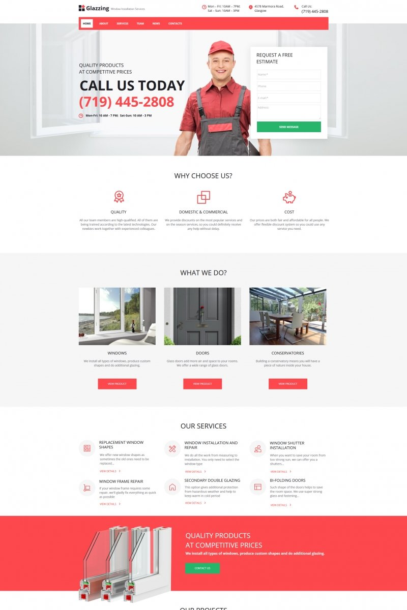Window Cleaning Moto CMS HTML Template