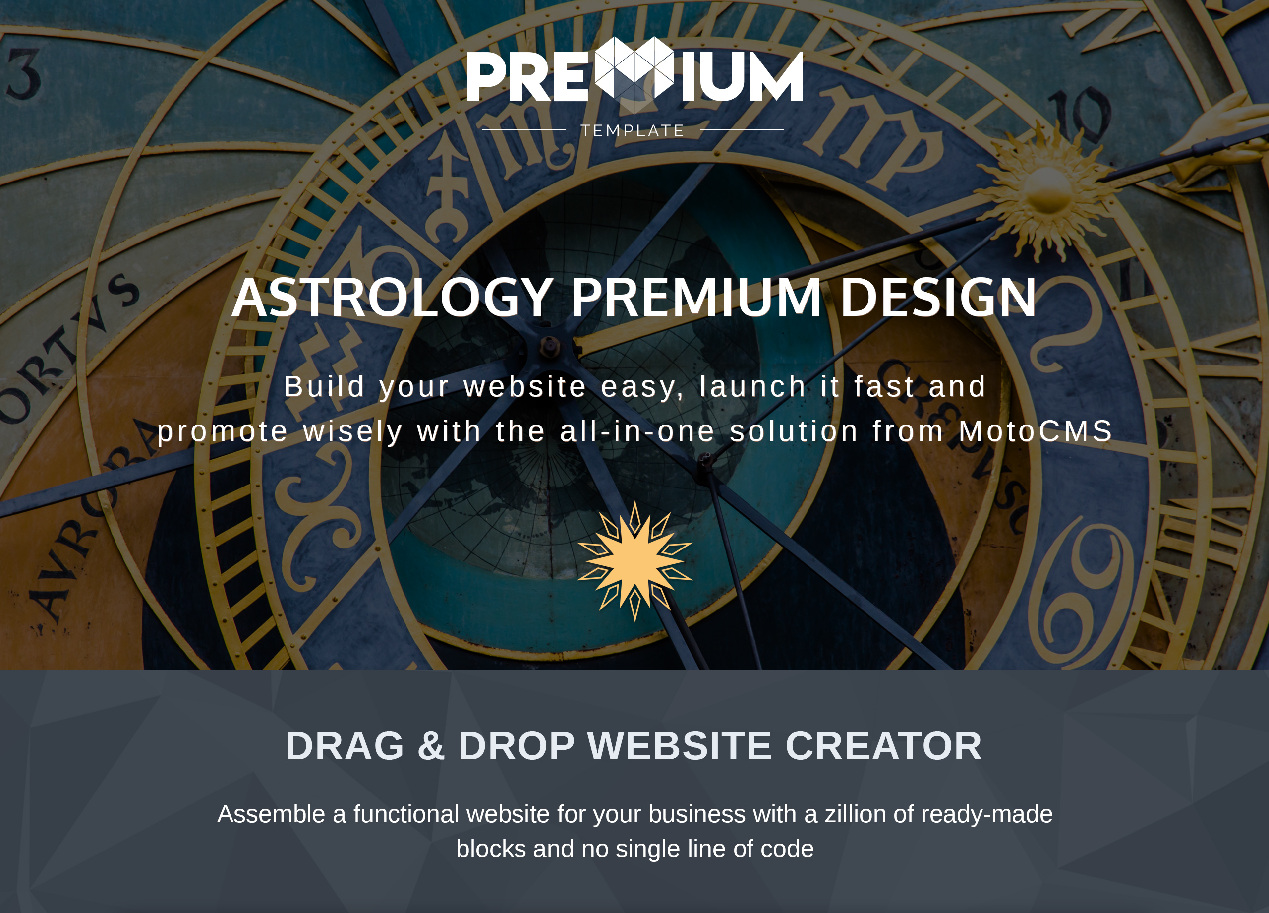 Astrology Center Premium Moto CMS 3 Template