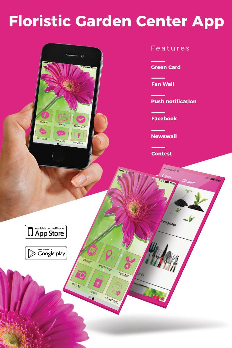 website template #65315 floristic flower garden custom website