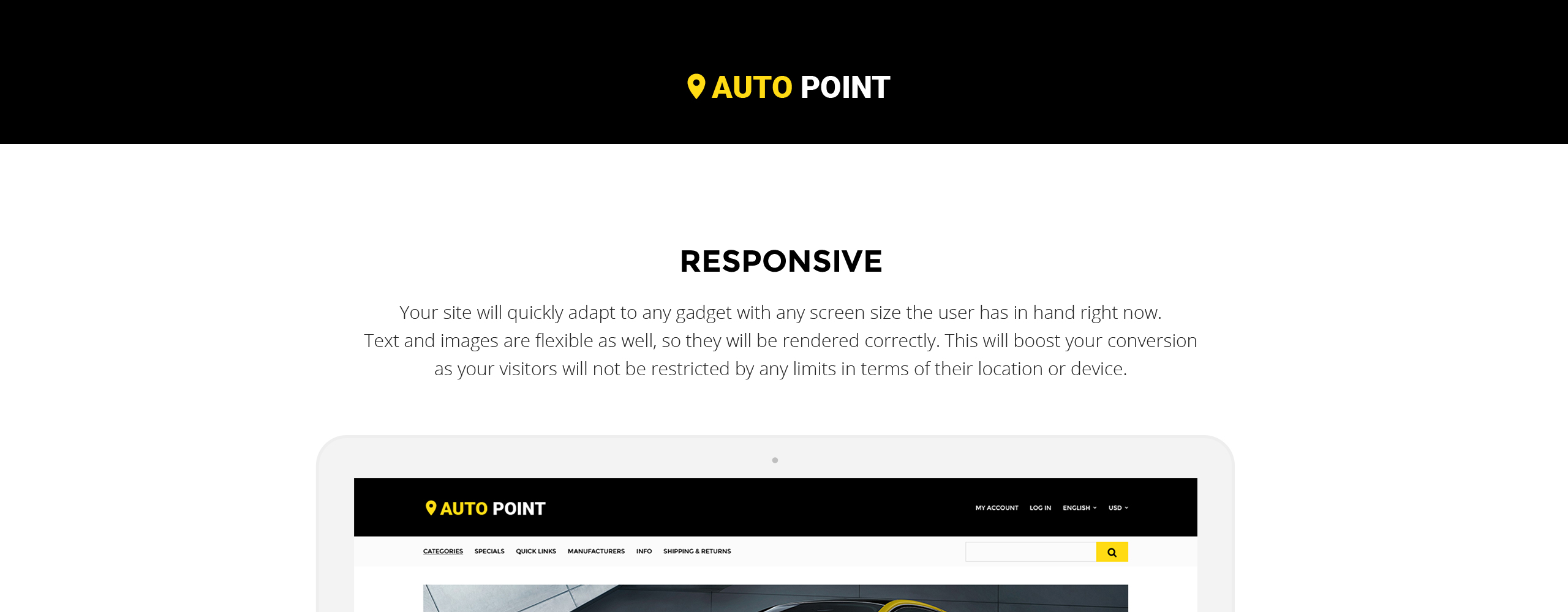 Auto Point  Responsive OpenCart Template
