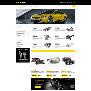 Купить Шаблон интернет магазина автозапчастей - Auto Point. Купить шаблон #65320 и создать сайт.