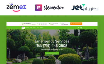 Jardinier - Landscaping Services WordPress Theme