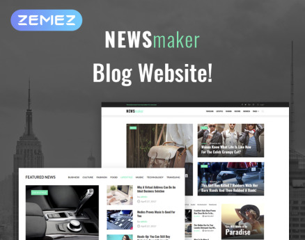 NEWSmaker - News & Magazine WordPress Theme