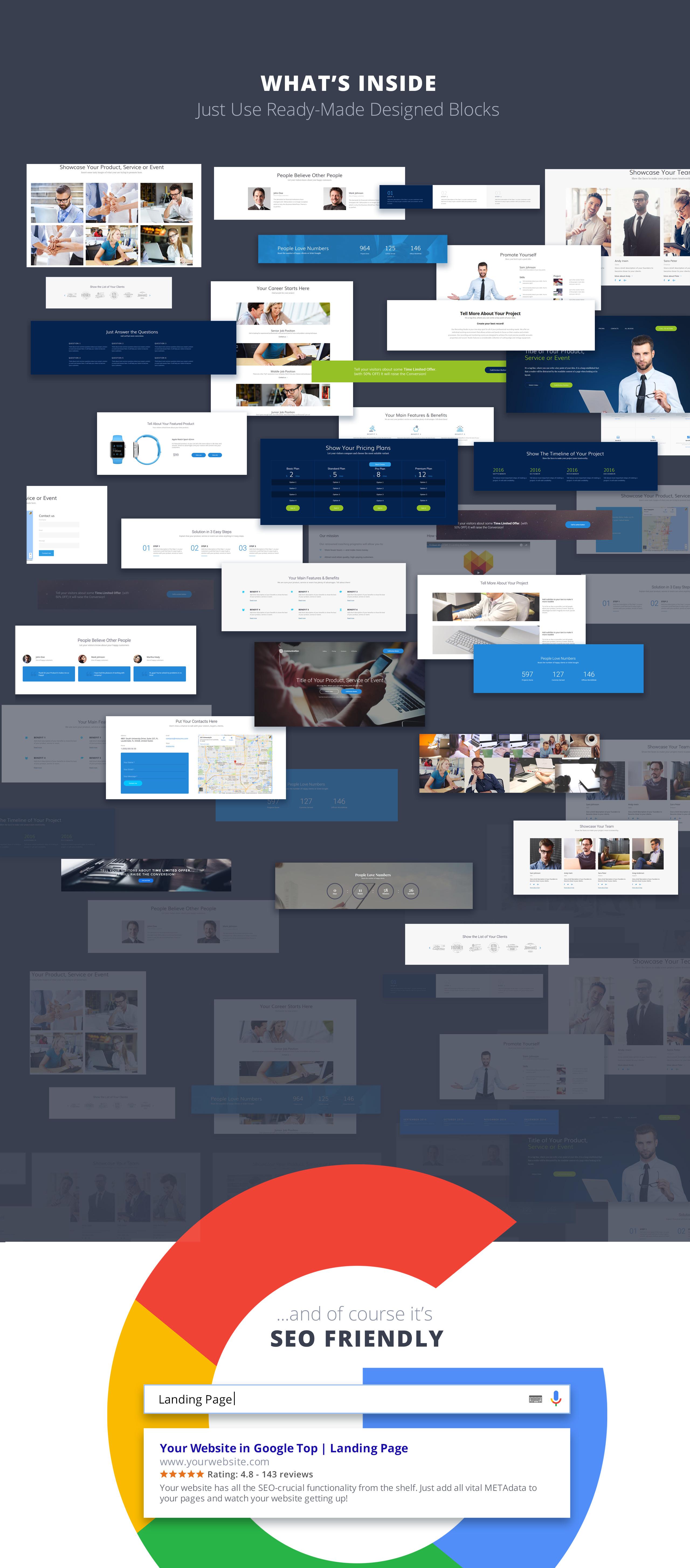 Noah Campbell - Barber CV MotoCMS 3 Landing Page Template