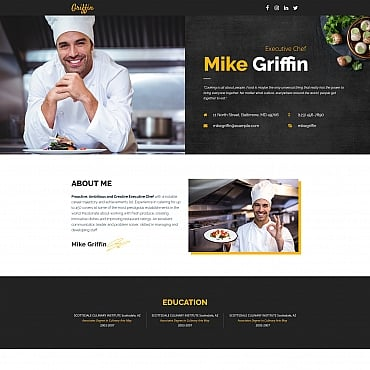 Preview image of Mike Griffin - Executive Chef CV MotoCMS 3