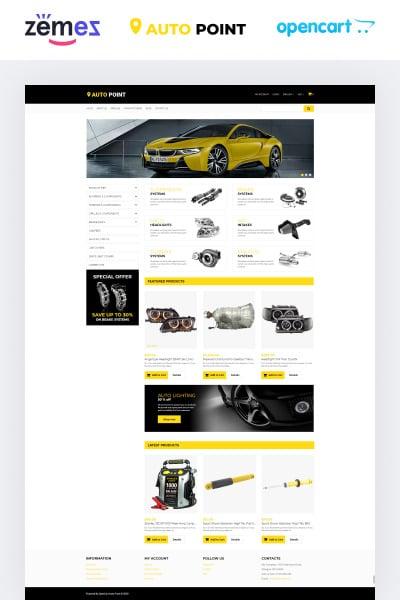 Адаптивный OpenCart шаблон сайта автомобильных запчастей #65320