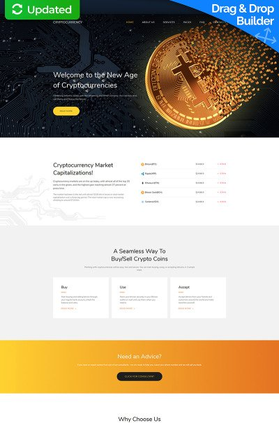Investment Company Responsive Moto CMS 3 Template