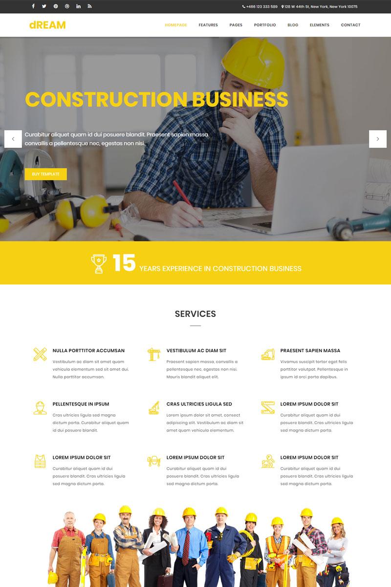Dream - Construction & Business Bootstrap Website Template - screenshot
