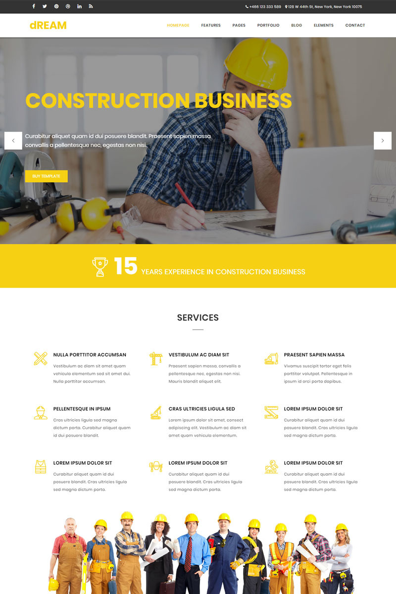 Dream - Construction & Business Bootstrap Screenshot