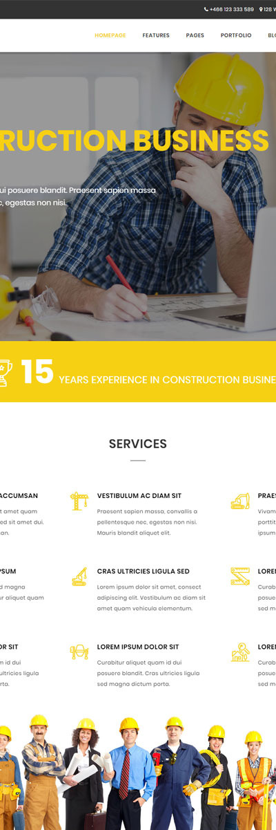 Dream - Construction & Business Website Template