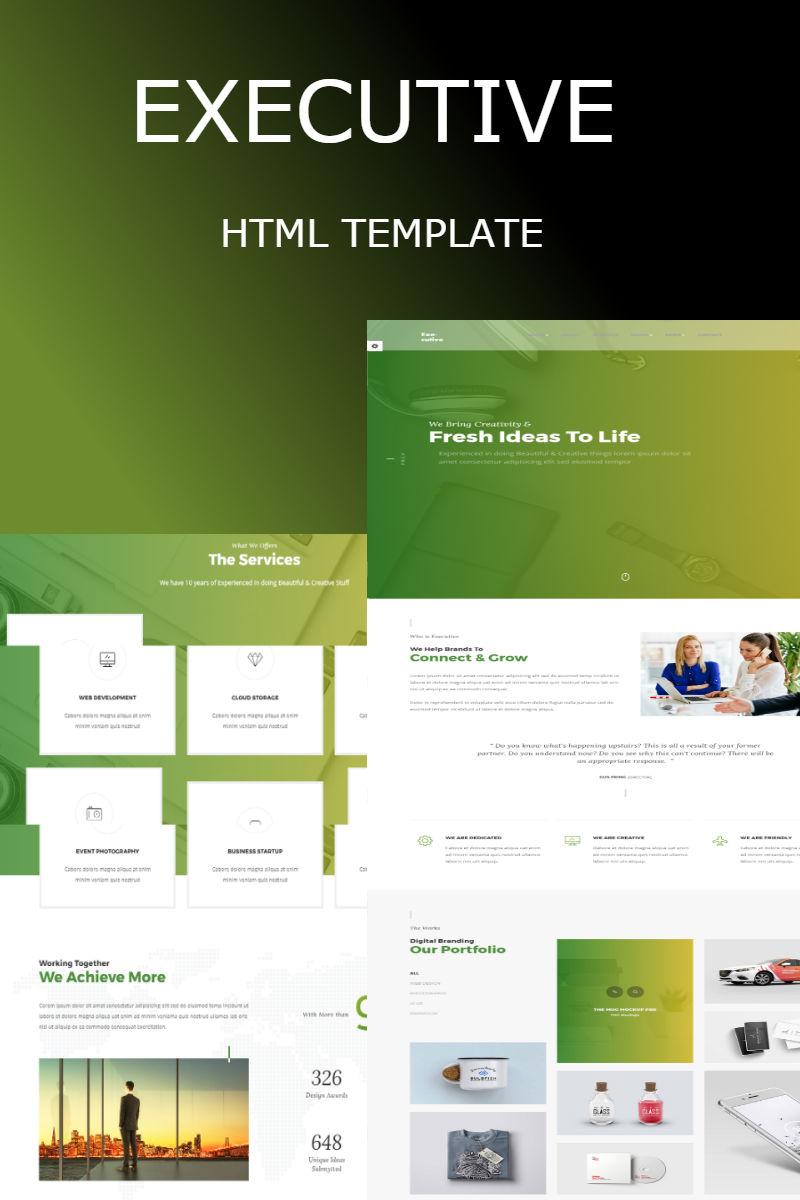 """Executive - Multipurpose HTML"" - адаптивний Шаблон сайту №65321"