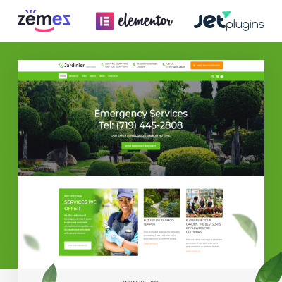 Agriculture templates for Service jardinier