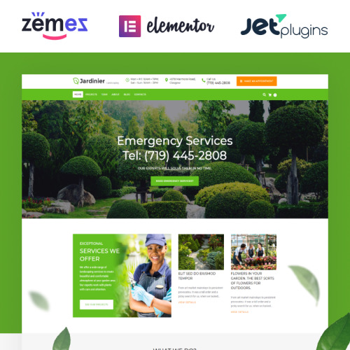 Jardinier - Landscaping Services WordPress Theme - HTML5 WordPress Template