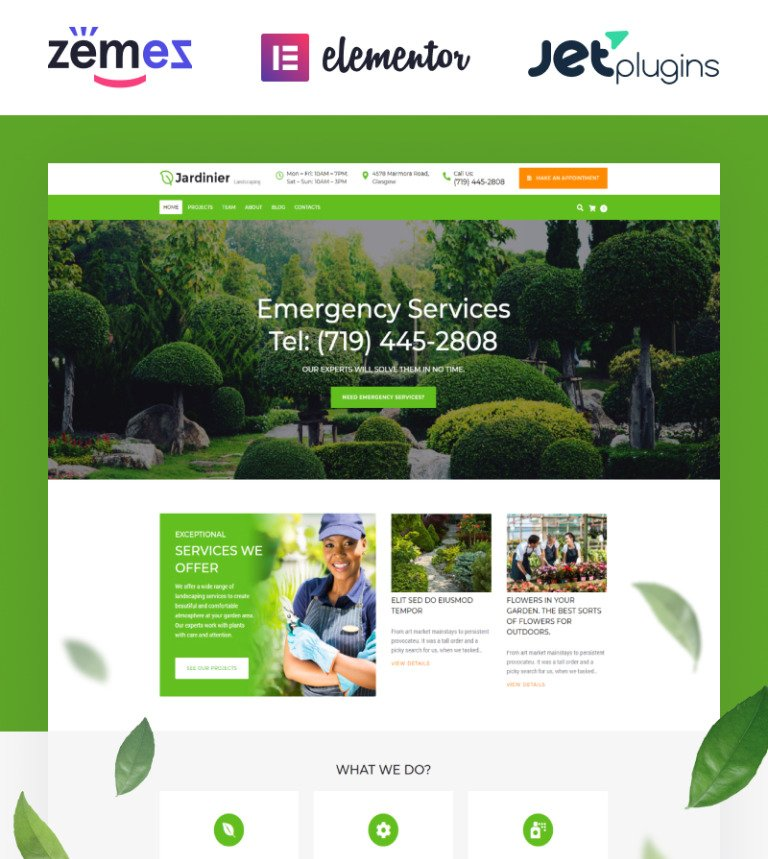 Jardinier - Landscaping Services WordPress Theme