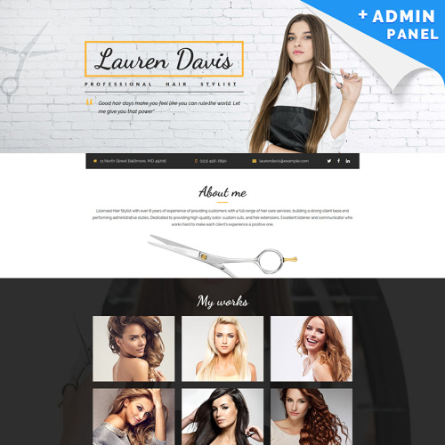 Personal Page - Landing Page Template based on Bootstrap
